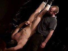 suspension boots bound assplay edging wanking shot