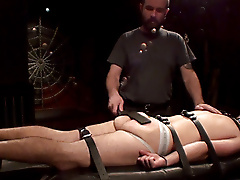 bound gurney restrained strapping