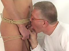 play chains facial fucking restraints rope spit