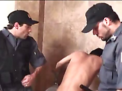 anal oral hung hunk threesome slave master