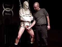 sensory deprivation straight jacket steel bondage baton