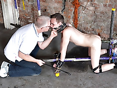 bondage humiliation restraints rope smoking spanking spit